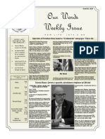 Newsletter Volume 10 Issue 24
