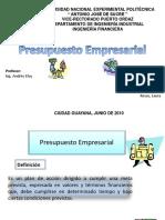 Presupuesto Empresarial Powerpoint