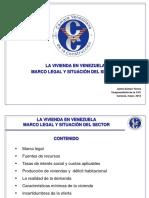 La vivienda en  Venezuela. Marco legal y situación del sector.