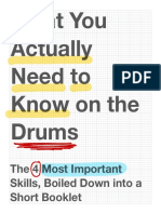 What You ACTUALLY Need to Know on Drums (EDIT 3-21-19)
