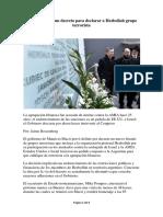 Macri Prepara Un Decreto Para Declarar a Hezbollah Grupo Terrorista