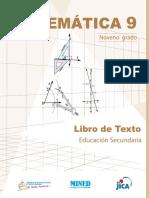 LIBRO DE MATEMÁTICA DE NOVENO