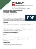 Técnicas de Evaluación Psicológica - Dra. Mónica Guinzbourg de Braude