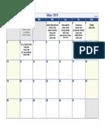 Calendario Mayo 2019