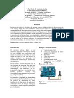 Reporte Instrumentacion- Conversion Analogico Digital