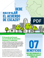 ¿Por qué el Perú debe ratificar el  Acuerdo de Escazú?