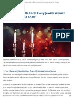 15 Shabbat Candle Facts