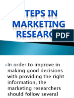 Steps in Marketing Research