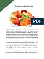 Beneficios de Comer Ensalada de Frutas Por Akira