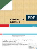 Journal Club June 2019