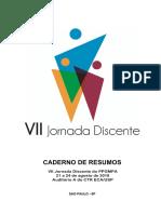 CADERNO DE RESUMOS. VII Jornada Discente do PPGMPA 21 a 24 de agosto de 2018 Auditório A do CTR ECA_USP SAO PAULO - SP.pdf