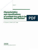 Characteristics and Classifications of Wetland Rice Soils in India, Indonesia, and Thailand