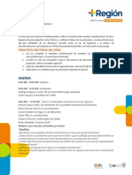 Agenda Foro 10 de JULIO de 2019