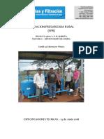 Especificaciones FPR Quibuto