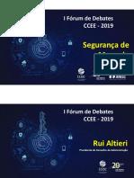 Apresentação - Fórum de Debates 2019 - Segurança de Mercado