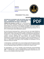 8-7-2019 GERMAN PRESS RELEASE - HISTORIC GENERAL MANAGEMENT MERGER BETWEEN UN SWISSINDO (UNS) AND DIRUNA (DRA)