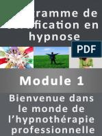 Module 1 Bienvenue Dans Le Monde de l Hypnothe Rapie Professionnelle