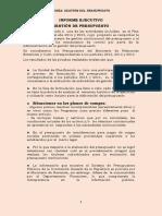 Informe Presupuesto 2015