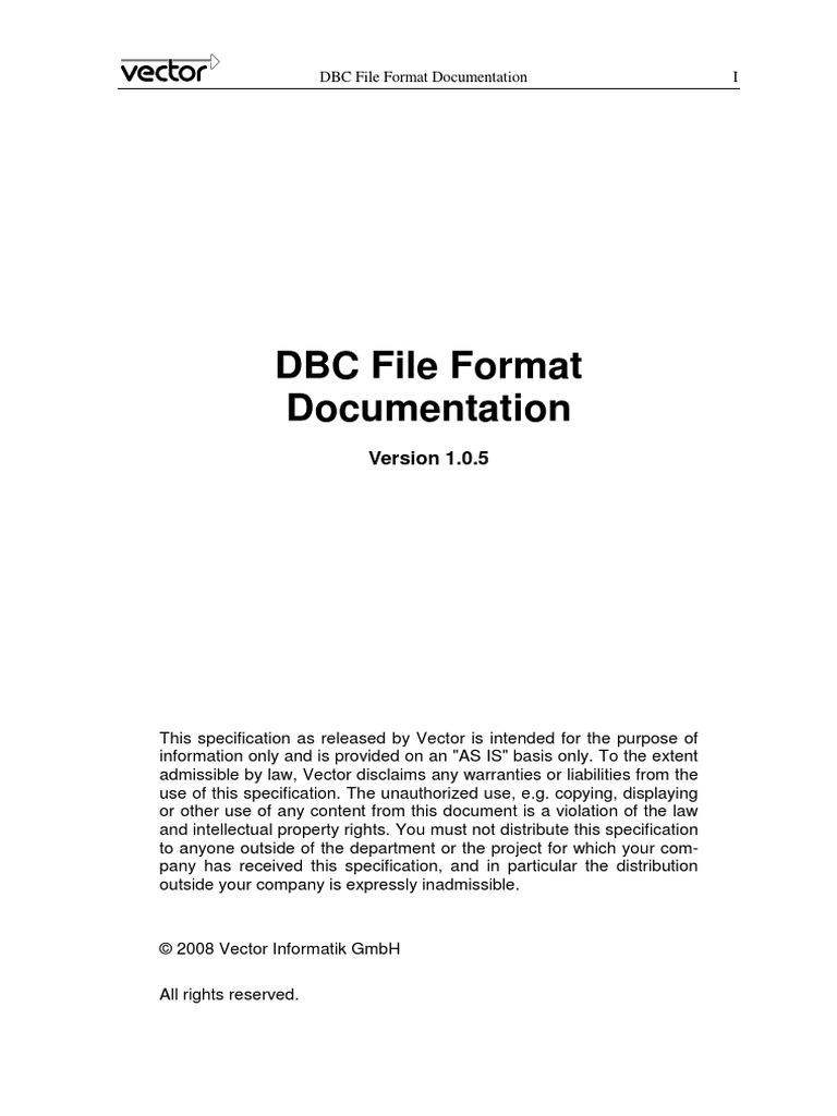 DBC File Format Documentation   Bracket   Data Type