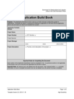 Application Build Book Template