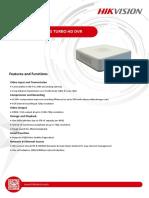 Especificaciones Tecnicas DS 7100HGHI F1 N