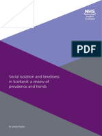 Social Isolation and Loneliness in Scotland a Review of Prevalence and Trends