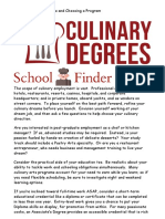 Cooking School Degrees and Choosing a Program