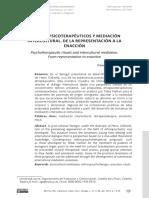 Rituales Psicoterapéuticos y Mediación Intercultural. de La Representación a La Enacción