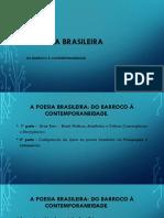 A poesia brasileira