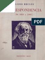 Eliseo Reclus - Correspondencia 1850-1905