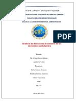 Analisis de Decisiciones Certidumbre Xi c Adm