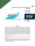 Administración y gerencia de las organizaciones educativas