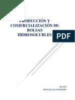 Producción y comercialización de bolsas hidrosolubles