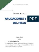 Aplicaciones y Usos Del Hielo