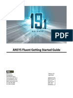 ANSYS Fluent Getting Started Guide v191