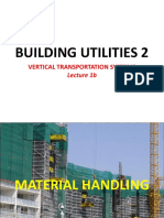 Lecture 1b - BUILDING UTILITIES 2 - Materials Handling