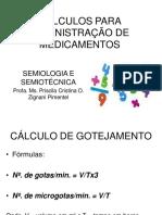 Cálculos Para_administração de Medicamentos