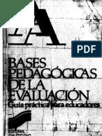 Bases Pedagogicas de La Evaluacion, Jose Manuel Garcia Ramos