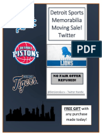 Detroit Sports Memorabilia Catalog 07092019