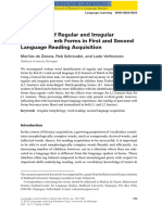 Processing of Regular and Irregular Past‐Tense Verb Forms in First and Second Language Reading Acquisition