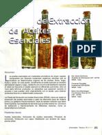 proceso general de extracción de aceites esenciales