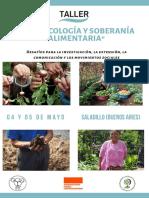 """""""AGROECOLOGÍA Y SOBERANÍA ALIMENTARIA"""""""