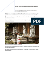 [Free For You] Indonesia Travel Advice - [url; https://findindonesia.com/]