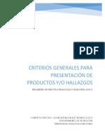 2-Pautas presentación productos y hallazgos 2019-1.pdf