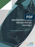 Macroprocessos Em Gestão de Pessoas - Atração, Recrutamento e Seleção