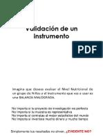 Validación de Un Instrumento