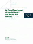 On-Farm Management of Applied Inputs and Native Soil Fertility