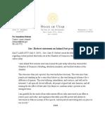 7.9.2019 Gov. Herbert Statement on Inland Port Protests