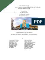 A FEASIBILITY STUDY ON THE CONVERSION OF ILOILO CENTRAL MARKET INTO A FIVE-STOREY MULTI PURPOSE FACILITY