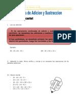 Actividad Matematica 02 de Mayo Adiciones y Sustracciones.
